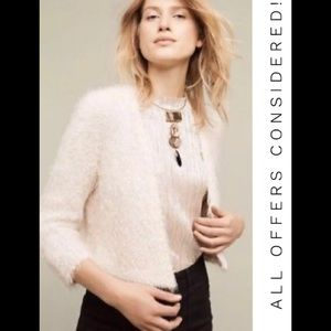 Anthropologie Knitted and Knotted Faux* Fur Shrug